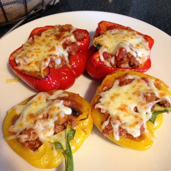 Turkey stuffed peppers - 90 daysss plan - The Body Coach - Cycle 1