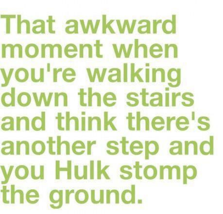 Do this EVERYWHERE with steps! And curbs. HULK SMASH!