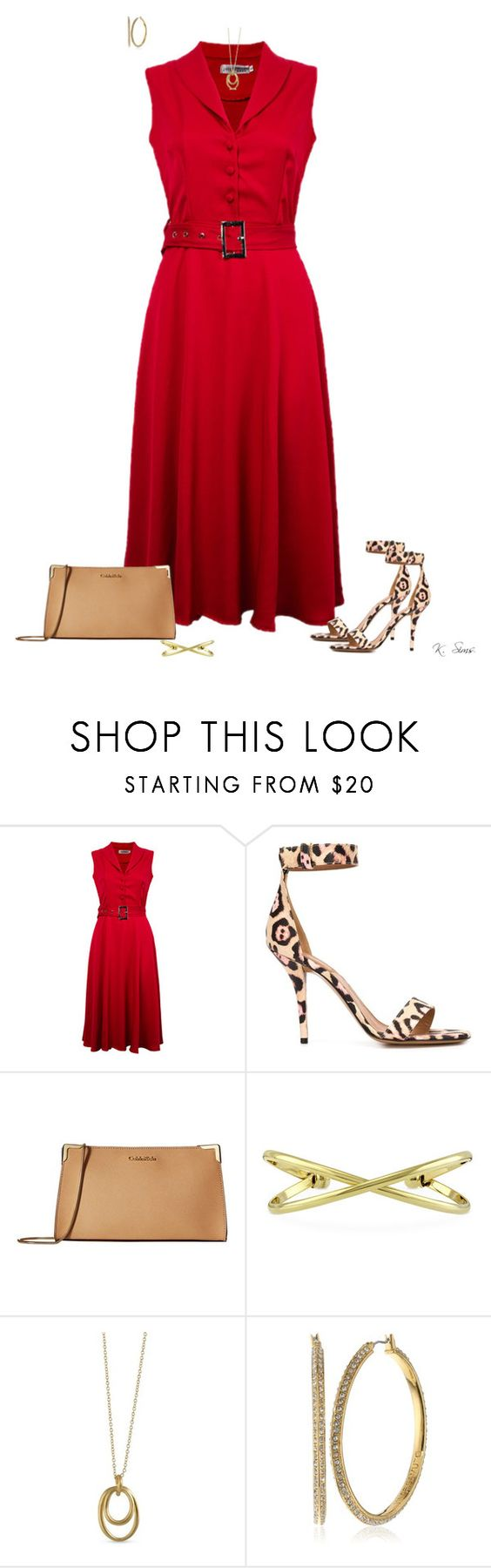 """""""This dress + these heels = knock'em dead"""" by ksims-1 ❤ liked on Polyvore featuring Givenchy, Calvin Klein, BERRICLE, Karen Kane and Vince Camuto"""