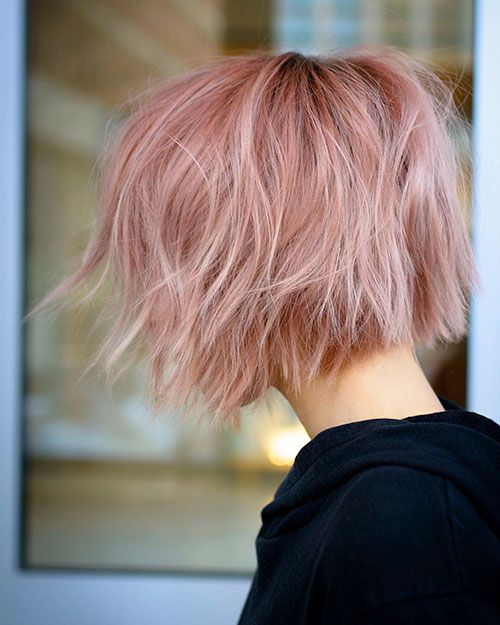 Short Light Pink Hair Thick Hair Styles Light Pink Hair Short Ombre Hair