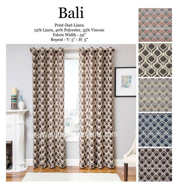 Bali Ikat Curtain Drapery Panels | Best Window Treatments | Colors ...