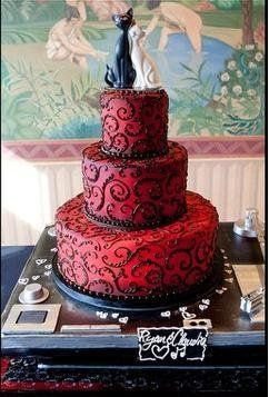 burgundy black and white wedding cake weddings receptions wedding and the stand 12234