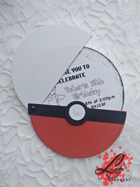 Set Of 10 Pokemon Birthday Invitations Pokemon Party
