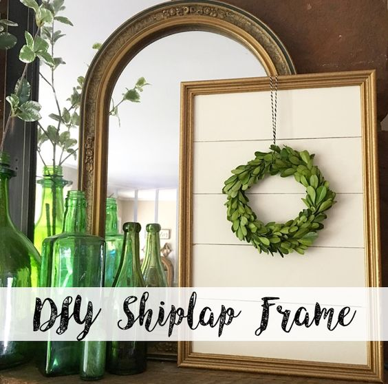 Farmhouse For Five Diy Shiplap Frame Wood Projects