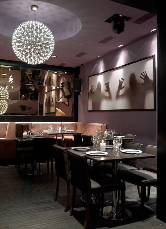 Restaurant Bogart. Surrealistic and a little bit fear wall decoration.