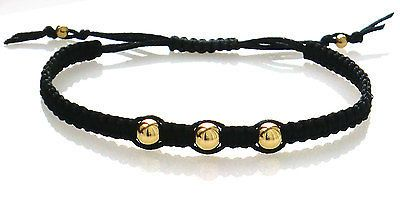 Ladies three 9ct / 18ct gold bead macrame #shamballa #bracelet - 3 - #chose colou,  View more on the LINK: http://www.zeppy.io/product/gb/2/321229787989/