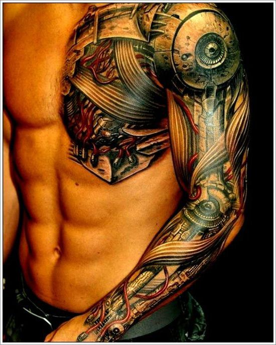 Biomechanical Hand Free Tattoo Design For Men Cyborg Tattoo Mechanic Tattoo Hyper Realistic Tattoo