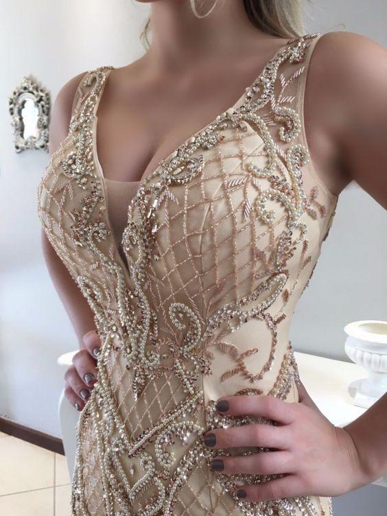 Vestido de Gala 2020 Dourado