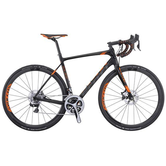 2016 Scott Solace Premium Disc Carbon Road Bike Black Orange