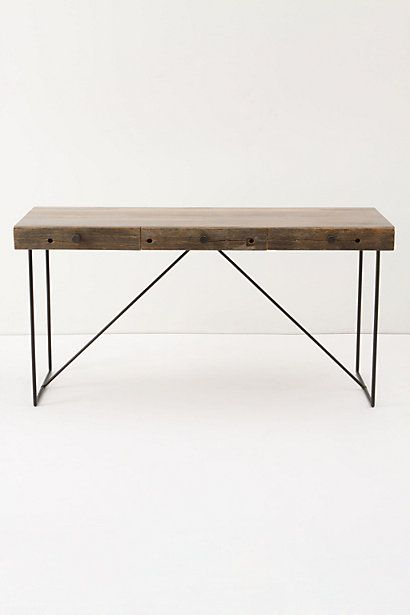 Desks anthropologie and woods on pinterest for Thin side table
