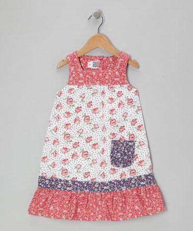Another great find on #zulily! Pink Rose Pocket Dress - Toddler & Girls #zulilyfinds