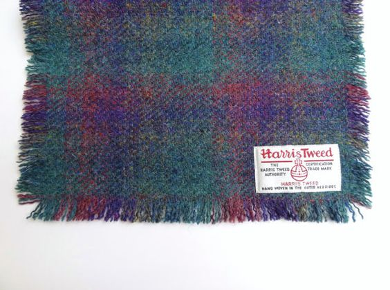 HARRIS TWEED SCARF - Beautiful Colors - Hand Woven in the Outer Hebrides of…