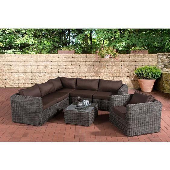 6 Seater Lounge Set Pudsey Made Of Poly Rattan With Upholstered Diy Gartenmobel Lounge Gartenmobel Lounge Mobel