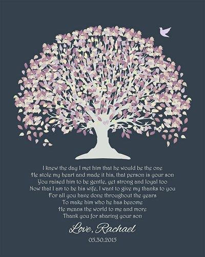 Wedding Gift Tree Poem : ... Family Tree Wedding Poem Verse Thank You Gift Anniversary Gift Housew