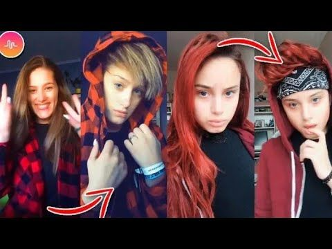 Boy Best Challenge Girls Turn Into Boys Musically And Tik Tok Compilation 2018 Youtube Hair Challenge Boy Hairstyles Boys