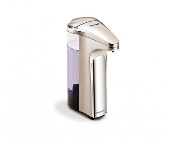 sensor pump with soap sample, brushed nickel