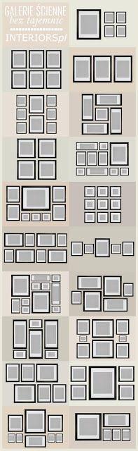 Opciones de composici n de cuadros para el pasillo o el - Composicion cuadros pared ...