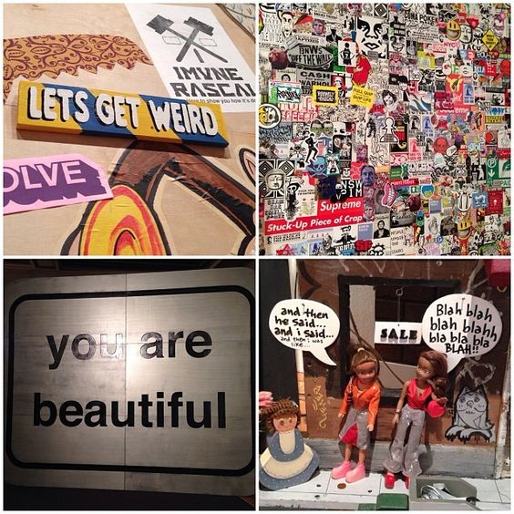 Street art exhibit at the Chicago Cultural Center