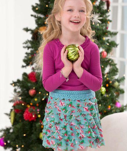 Child s Ruffle Skirt Free Crochet Pattern from Red Heart ...