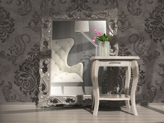 Tapete Memory Vliestapete Barock 95372-3 953723 schwarz grau silber: Amazon.de: Baumarkt