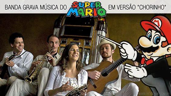 """Banda grava música do Super Mario em versão """"Chorinho"""". Ouça agora mesmo: http://wp.me/p90oS-oc"""