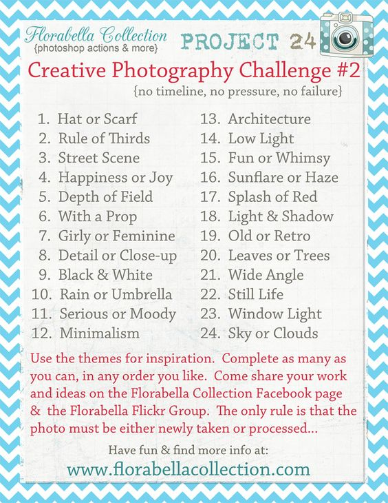 Here's the new Project 24 Theme List {Creative Photography ...