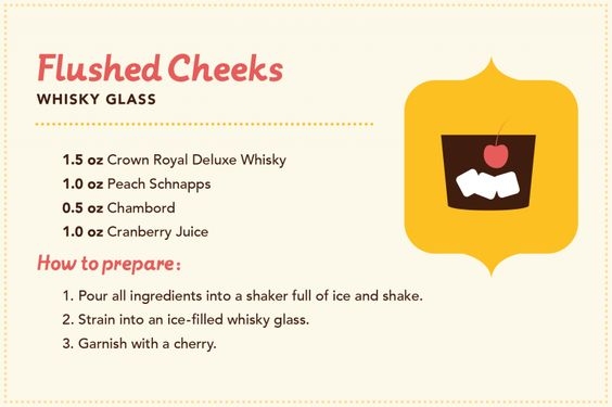Manitoba cocktails: Flushed Cheeks featuring Crown Royal Deluxe Whisky.