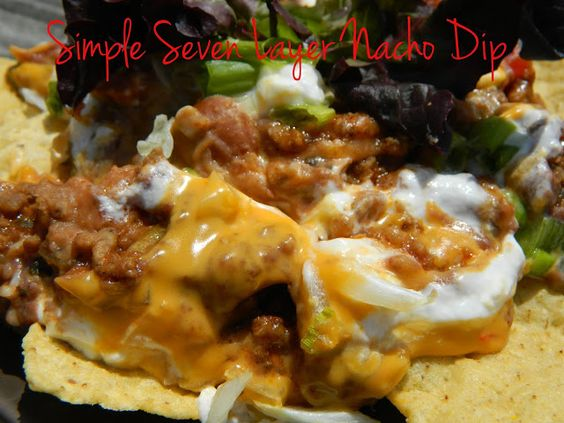 Nacho dip, Nachos and Dips on Pinterest