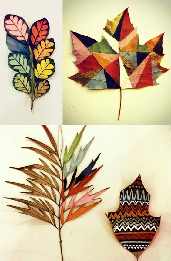 painted leaves from Gabee Meyer:
