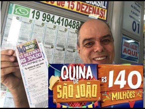Quina De Sao Joao Quase 1 Bilhao De Premios Em 8 Edicoes Youtube Dia De Sao Joao Loteria Joaozinho