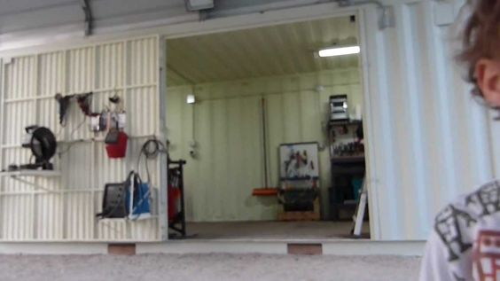 shipping containers turned into a home workshop