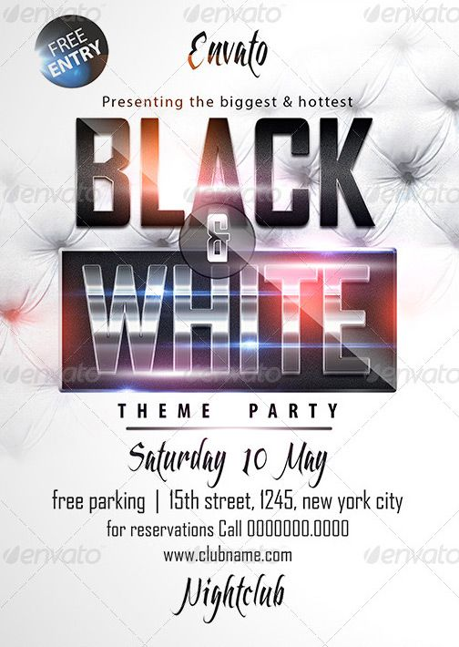 Top 20 Ladies Night PSD Flyer Templatesawesomeflyer – Black and White Flyer Template