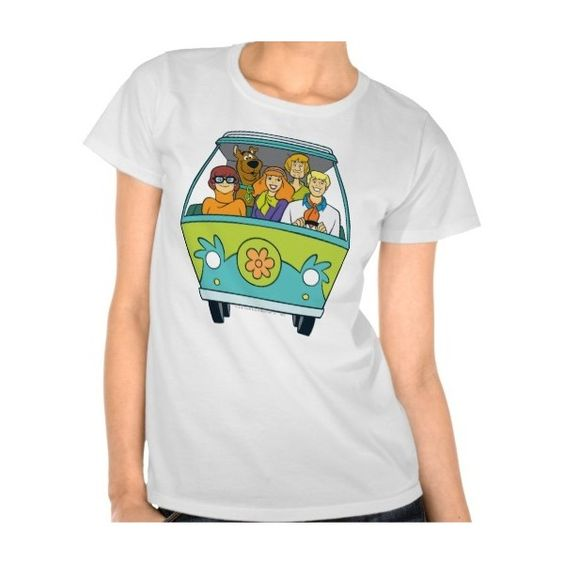 The Mystery Machine Shot 16 Tee Shirts ($22) ❤ liked on Polyvore featuring tops and t-shirts