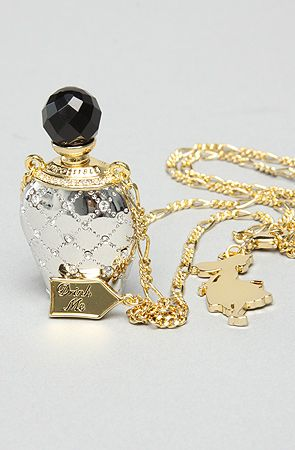 """The Alice in Wonderland """"Drink Me"""" Bottle Pendant by Disney Couture Jewelry #KARMALOOP"""