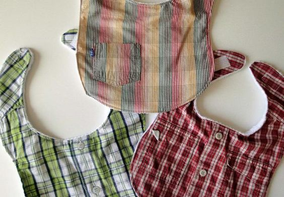 Old shirts turns into baby napkin