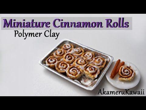 Rollos de canela en miniatura   -   Miniature Cinnamon Rolls.  Polymer Clay Tutorial. YouTube