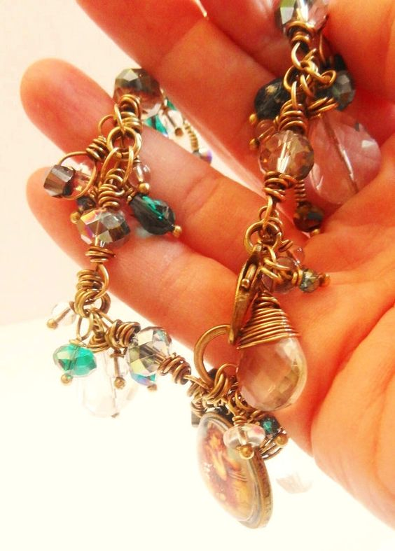 Altered Art Vintage Mermaid Wire Wrapped by lululovestocreate, $62.00