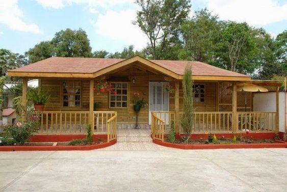 Planos casas de madera prefabricadas ventajas de vivir en for Modelos de casas de madera de un piso