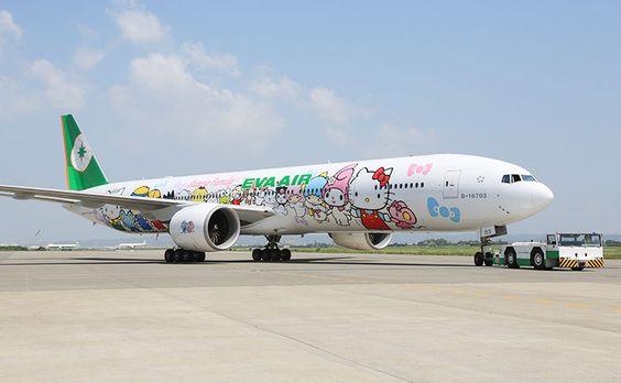 Chiếc máy bay mang hình Hello Kitty