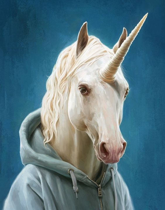 Unicorn in a Hoodie, an art print by Jeremy Enecio - INPRNT: