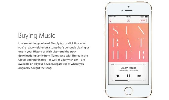 When you like what you hear, buy it on iTunes Radio