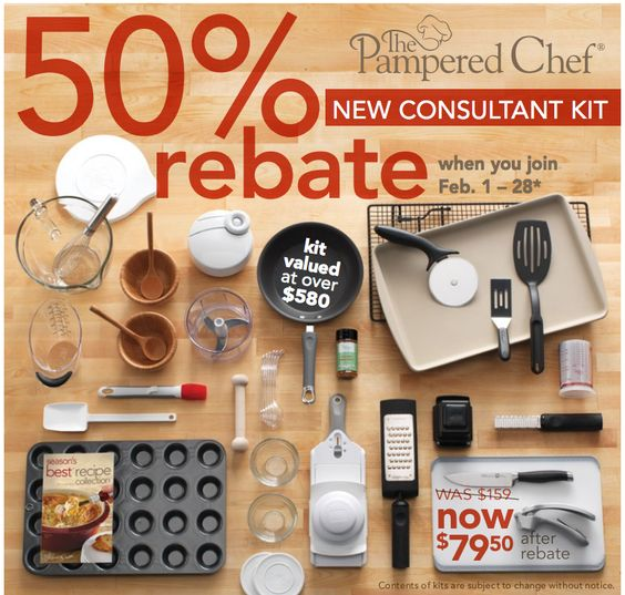 Are you looking for freedom, flexibility and extra money?  You can have all this with your very own Pampered Chef business.  And in February, you can take advantage of the 50% rebate on your investment of $159.  Visit my website www.pamperedchef.biz/cookingwithkerry for more information.  I would love to help you find the more you are looking for.
