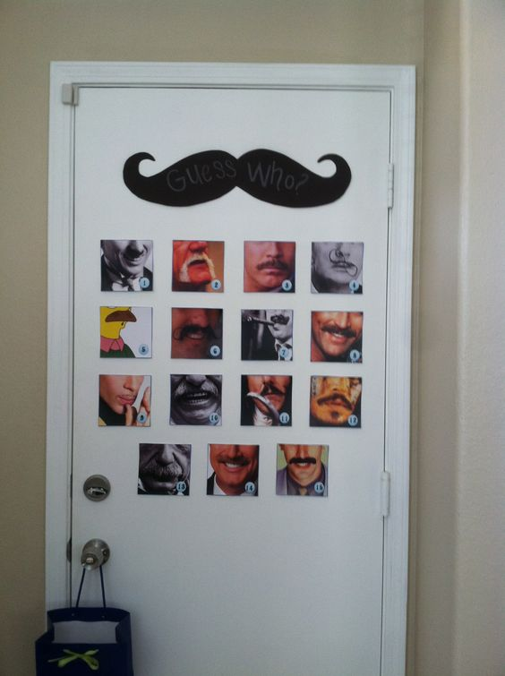 """""""Guess Who"""" is wearing the Mustache game.  All famous people, a fun game."""