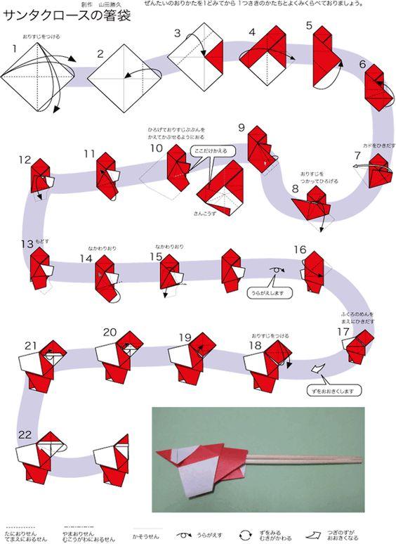 簡単 折り紙 折り紙サンタの作り方 : jp.pinterest.com