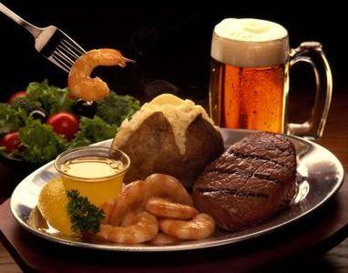 more steak & beer..