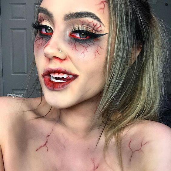 Zombie Halloween make up
