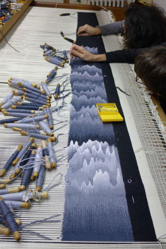 Atelier A2 - Tapisserie d'Aubusson, Basse lisse, Centre de formation