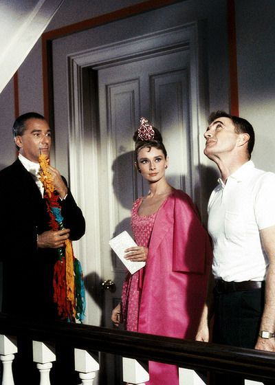On the set of Breakfast at Tiffany's, 1961.