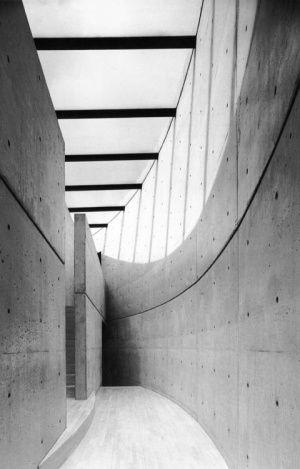 Ando Insitu concrete wall Curve Skylight Shadow Black