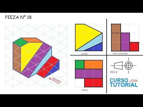 Alzado Planta Y Perfil De Una Pieza E18 Ejercicios De Vistas De Dibujo Tecnico Sistema Europ Tecnicas De Dibujo Vistas Dibujo Tecnico Dibujo Tecnico Ejercicios